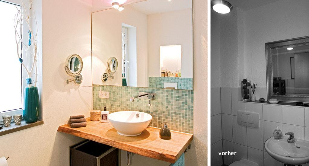 Badezimmer sanieren eichenhaus schreinerei architekturb ro for Badezimmer corian
