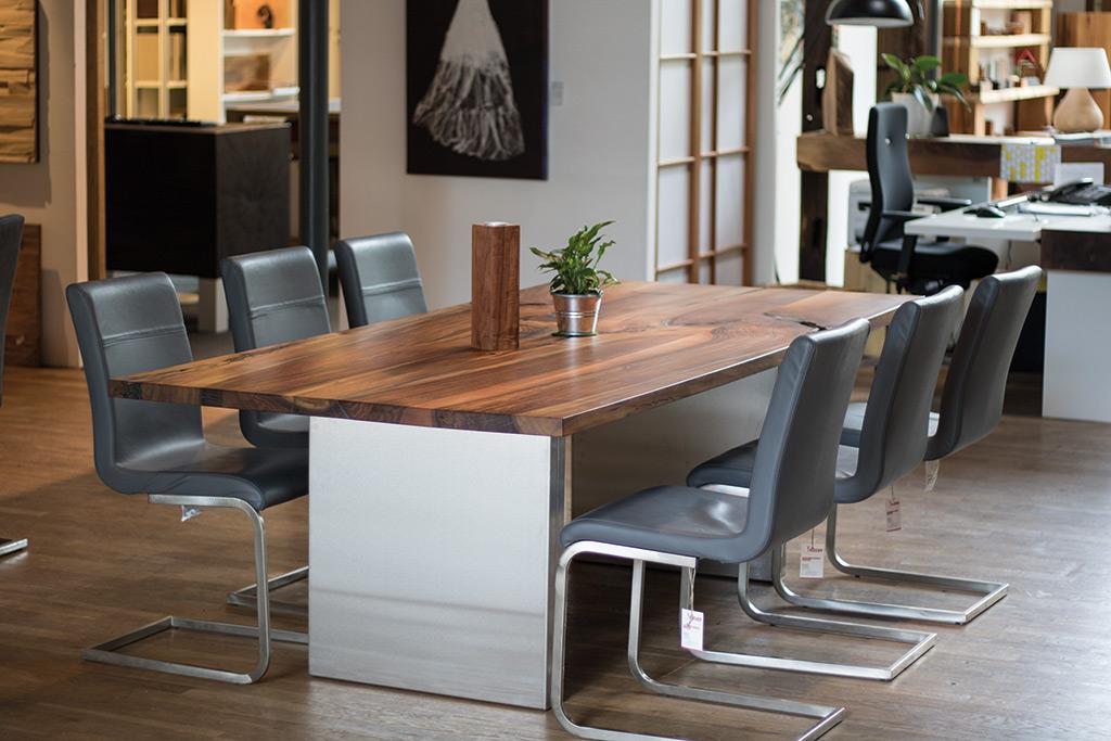 Esstisch Holz Edelstahl Ausziehbar ~ Tische, Stühle, Esstischgarnitur oder Eckbank in Holz vom Schreiner