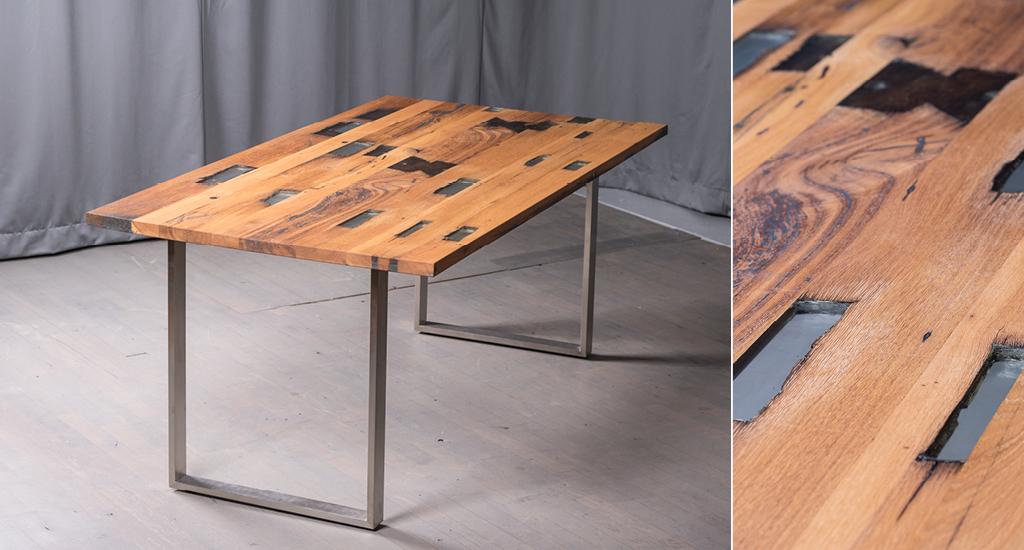 tisch aus altholz elegant fabelhafte esstisch recyceltes. Black Bedroom Furniture Sets. Home Design Ideas