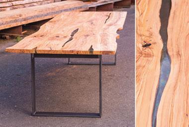 esstisch und couchtisch aus spessartholz. Black Bedroom Furniture Sets. Home Design Ideas