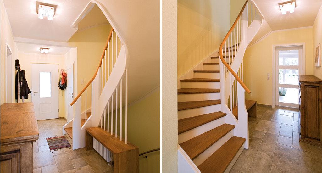 Treppenhaus modern holz  Treppe aus Holz & Metall - 1.000 qm Ausstellung in Aschaffenburg