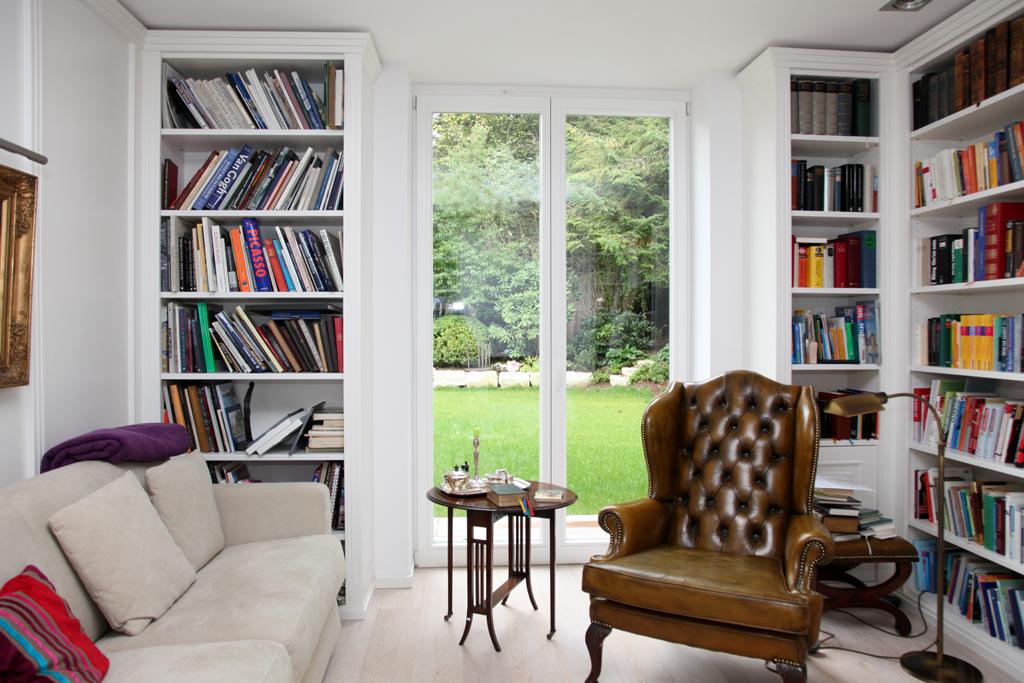 Wohnzimmer bibliothek 47 einrichtungsdeen f r hausbibliothek und b cherregalwand wohnzimmer - Hausbibliothek regalwand im wohnzimmer ...
