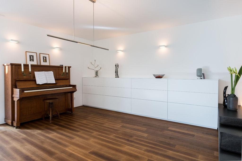 Wohnzimmer Hell Sideboard Aus Weißlack Mit Großen Schubladen Für Stauraum  Schreiner Eichenhaus Aschaffenburg Babenhausen