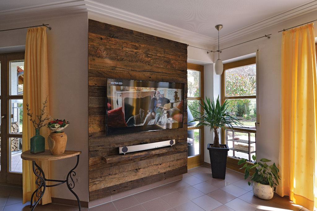Wohnzimmer Rustikal Modern Tv Mbel Amp Fernsehschrank Von Der Schreinerei Im Eichenhaus
