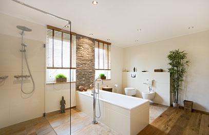 Bad renovieren  badezimmer sanieren und renovieren mit naturstein fliesen und ...